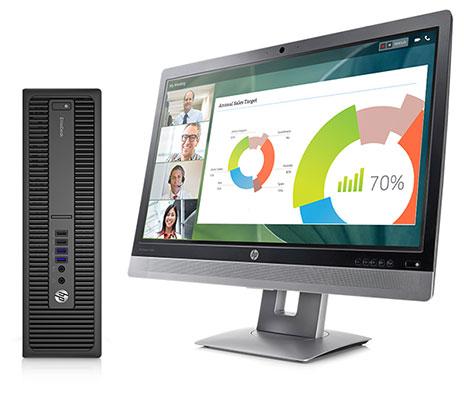 Máy tính để bàn HP ProDesk 800G2_V2D83PA - Core i7 6700/ 4Gb/ 1Tb/ Win10 pro64